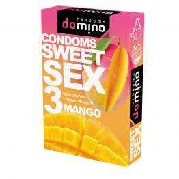 ПРЕЗЕРВАТИВЫ DOMINO SWEET SEX MANGO 3штуки (оральные)