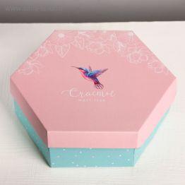 Коробка складная Счастье, 26 × 22.5 × 8 см