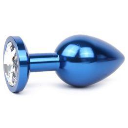 BLUE PLUG SMALL (втулка анальная), L 70 мм D 27 мм, вес 60г, цвет кристалла бесцветный, арт. BLUS-01