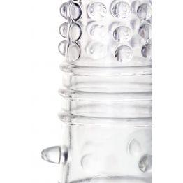 Насадка на пенис, TPR, Прозрачный, 14,7 см