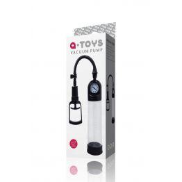 Вакуумная помпа TOYFA A-toys мощная с манометром, чёрная, 20 см