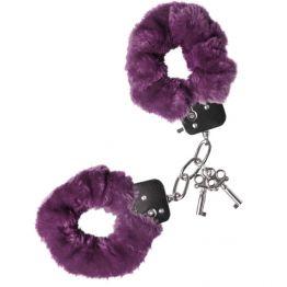 Наручники меховые фиолетовые