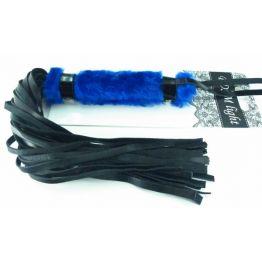 Нежная плеть с синим мехом BDSM Light 740003ars