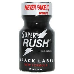 Попперс Super Rush Black label PWD 10 ml ( Exclusive ) Isobutylnitrite, Rush_2131BL