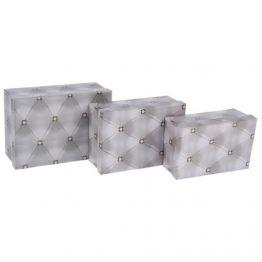Коробка Ромбики , серый, 1