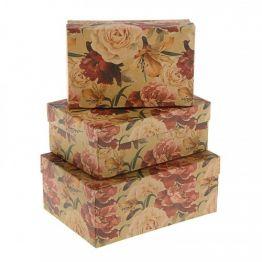Коробка  Пион крафт , 2