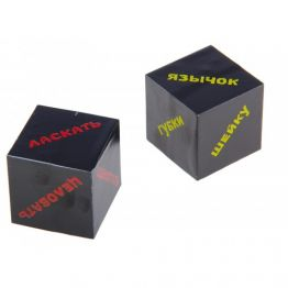 Кубик  Части тела , серия для взрослых, 2кубика, 4х4х4см 190266