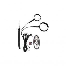 Набор электроколец и насадок на пенис и мошонку с пультом управления, 3725-06 PD