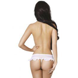 Завлекающие белые трусики с доступом и нежной юбочкой (Easy to love) (XL/XXL (50-52))
