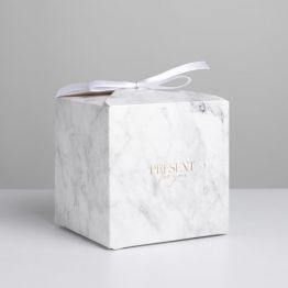 Коробка складная Мрамор, 12 × 12 × 12 см 7007569