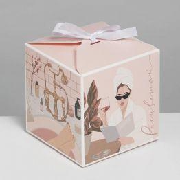 Коробка складная SPA GIRL, 12 × 12 × 12 см 7007570