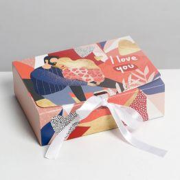 Коробка складная подарочная I love you, 16.5 × 12.5 × 5 см 7120106