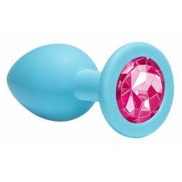 Анальная пробка Emotions Cutie Medium Turquoise pink crystal 4012-03Lola