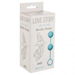Вагинальные шарики Love Story Moulin Rouge blue 3009-03Lola