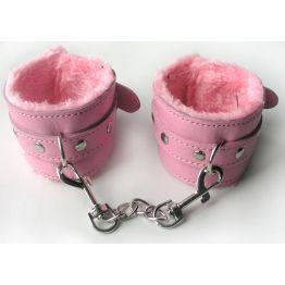 НАРУЧНИКИ цвет розовый, (текстиль) арт. MLF-90042-6