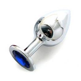 SILVER PLUG LARGE (втулка анальная) цвет кристалла синий, L 95 мм, D 41 мм, вес 160г, арт. SL-13