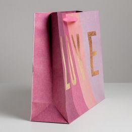 Пакет крафтовый горизонтальный LOVE, L 40 × 31 × 11,5 см     5177931