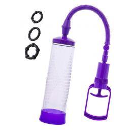 Помпа для пениса Men Erection , вакуумная, механическая, ABS пластик, прозрачный, 23 см